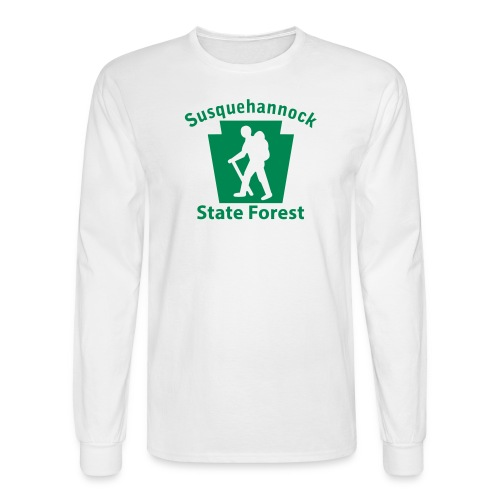 Susquehannock State Forest Keystone Hiker (male) - Men's Long Sleeve T-Shirt