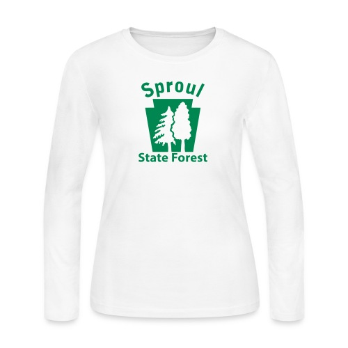 Sproul State Forest Keystone w/Trees - Women's Long Sleeve Jersey T-Shirt