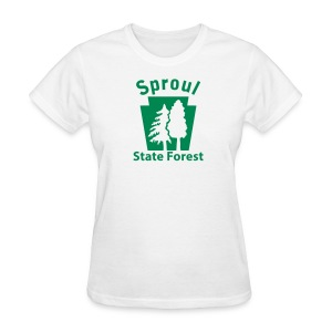 Sproul State Forest Keystone w/Trees - Women's T-Shirt