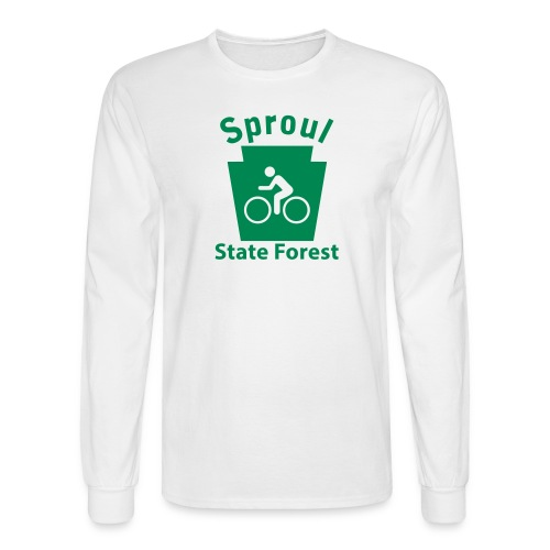Sproul State Forest Keystone Biker - Men's Long Sleeve T-Shirt