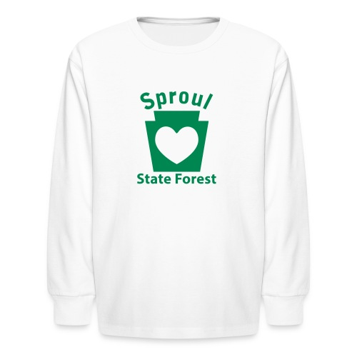 Sproul State Forest Keystone Heart - Kids' Long Sleeve T-Shirt