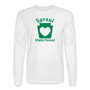 Sproul State Forest Keystone Heart - Men's Long Sleeve T-Shirt