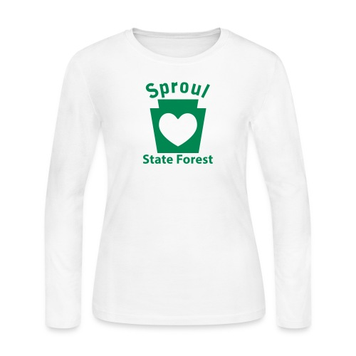 Sproul State Forest Keystone Heart - Women's Long Sleeve Jersey T-Shirt