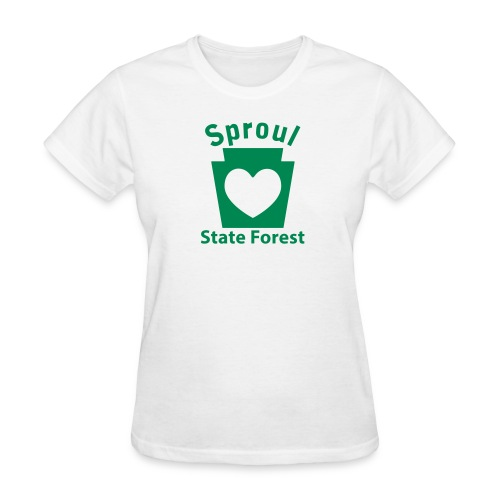 Sproul State Forest Keystone Heart - Women's T-Shirt