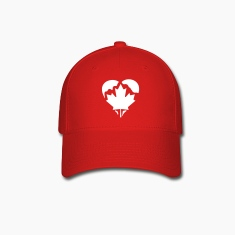 Red Canada Heart Caps