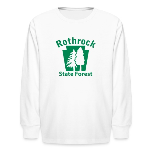 Rothrock State Forest Keystone w/Trees - Kids' Long Sleeve T-Shirt