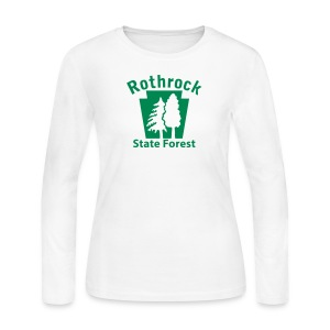 Rothrock State Forest Keystone w/Trees - Women's Long Sleeve Jersey T-Shirt