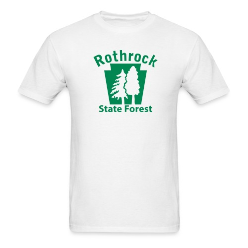 Rothrock State Forest Keystone w/Trees - Men's T-Shirt