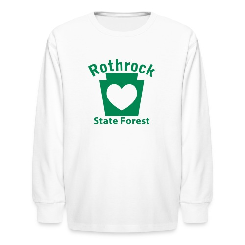 Rothrock State Forest Keystone Heart - Kids' Long Sleeve T-Shirt
