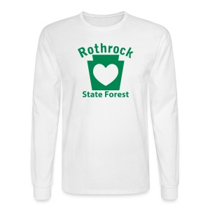 Rothrock State Forest Keystone Heart - Men's Long Sleeve T-Shirt