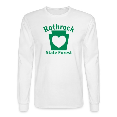 Rothrock State Forest Keystone Heart - Men's Long Sleeve T-Shirt