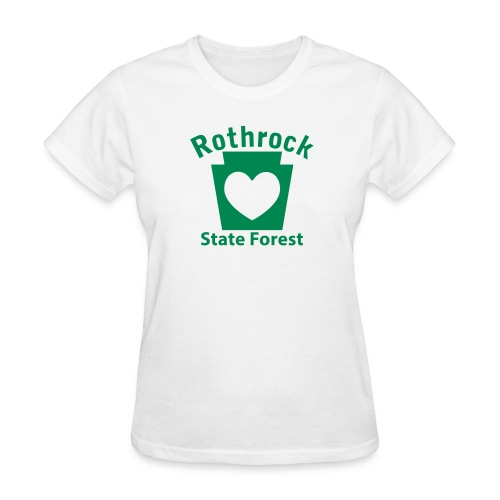 Rothrock State Forest Keystone Heart - Women's T-Shirt