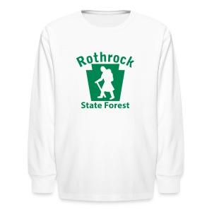 Rothrock State Forest Keystone Hiker (female) - Kids' Long Sleeve T-Shirt