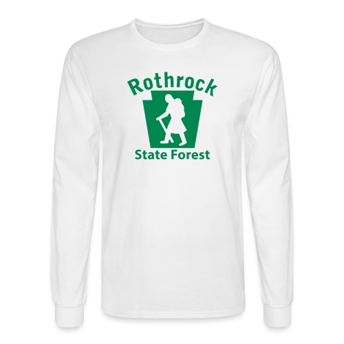 Rothrock State Forest Keystone Hiker (female) - Men's Long Sleeve T-Shirt