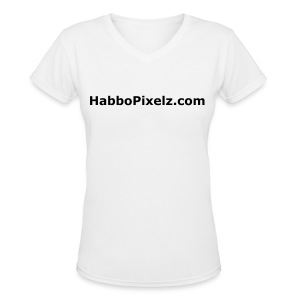 HabboPixelz Womens T-Shirt (includes Site name and motto) - Women's V-Neck T-Shirt
