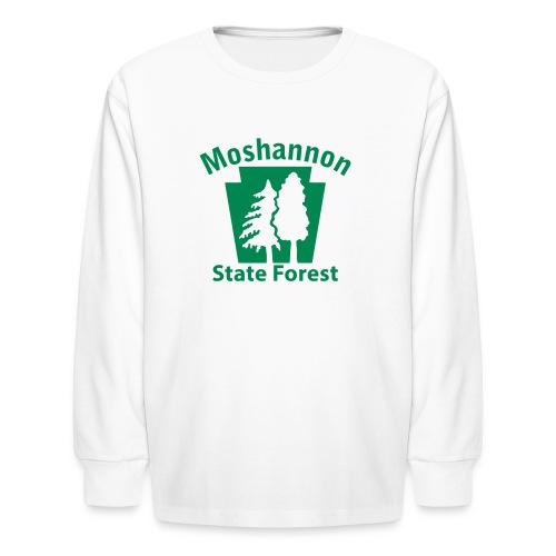 Moshannon State Forest Keystone w/Trees - Kids' Long Sleeve T-Shirt