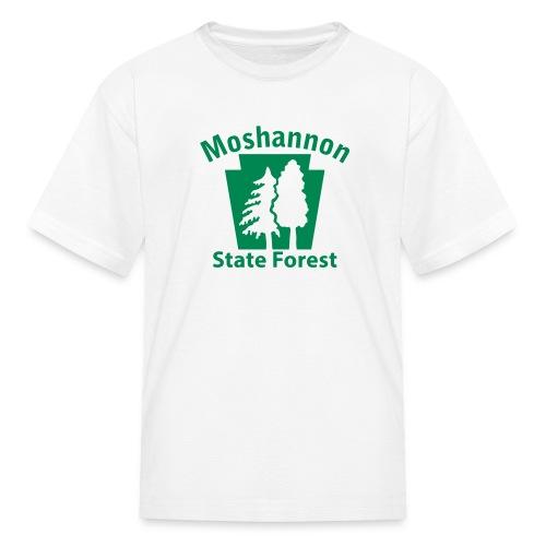 Moshannon State Forest Keystone w/Trees - Kids' T-Shirt
