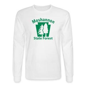 Moshannon State Forest Keystone w/Trees - Men's Long Sleeve T-Shirt