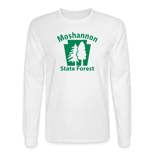 Moshannon State Forest Keystone w/Trees - Men's Long Sleeve T-Shirt