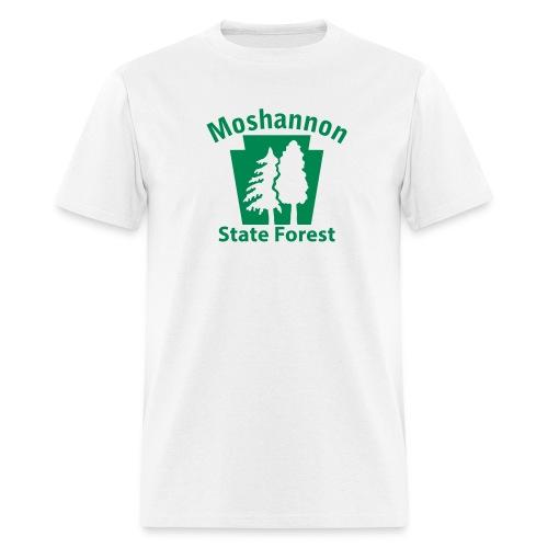 Moshannon State Forest Keystone w/Trees - Men's T-Shirt