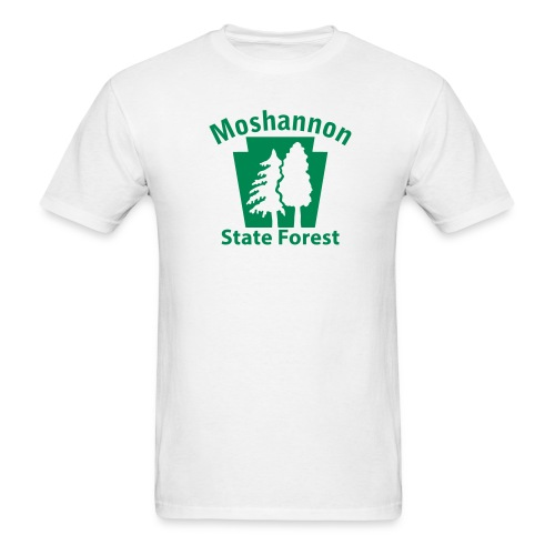Moshannon State Forest Keystone w/Trees - Men's T-Shirt