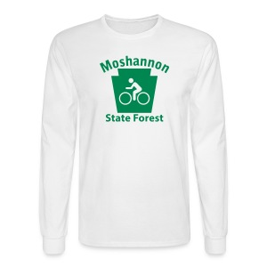 Moshannon State Forest Keystone Biker - Men's Long Sleeve T-Shirt