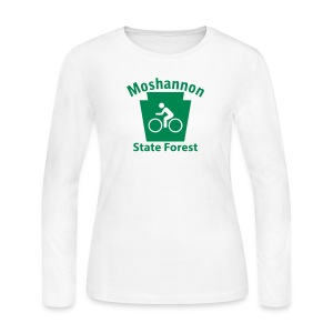 Moshannon State Forest Keystone Biker - Women's Long Sleeve Jersey T-Shirt