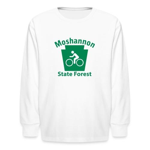 Moshannon State Forest Keystone Biker - Kids' Long Sleeve T-Shirt