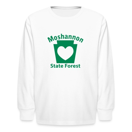 Moshannon State Forest Keystone Heart - Kids' Long Sleeve T-Shirt