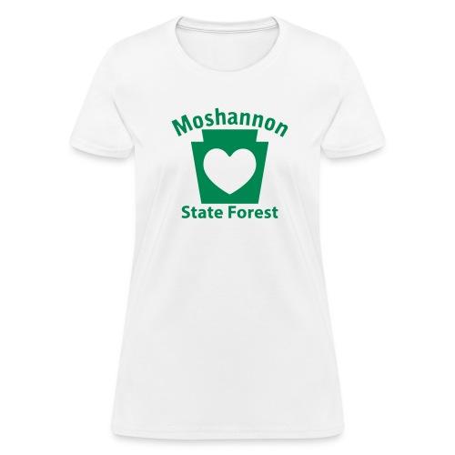 Moshannon State Forest Keystone Heart - Women's T-Shirt