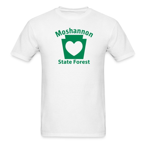 Moshannon State Forest Keystone Heart - Men's T-Shirt