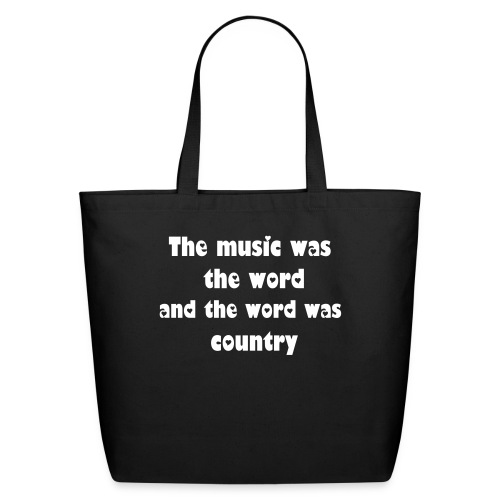 Country music tote bag - Eco-Friendly Cotton Tote
