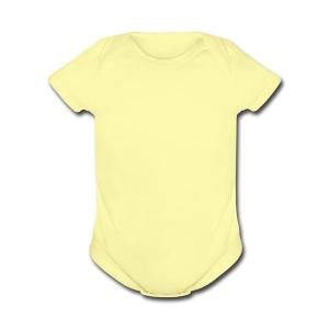 baby baby baby - Short Sleeve Baby Bodysuit