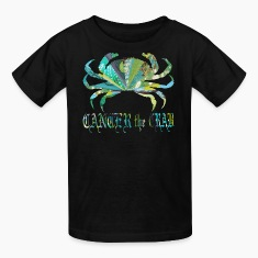 Black CANCER the CRAB Kids' Shirts