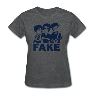 Fake (Deep Heather) - Women's T-Shirt