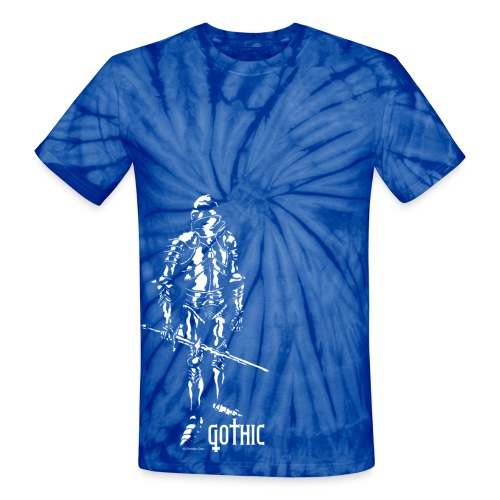 Men's Gothic Knight Tie Dye - Unisex Tie Dye T-Shirt