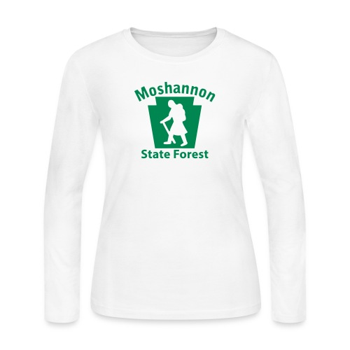 Moshannon State Forest Keystone Hiker (female) - Women's Long Sleeve Jersey T-Shirt
