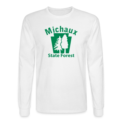 Michaux State Forest Keystone w/Trees - Men's Long Sleeve T-Shirt