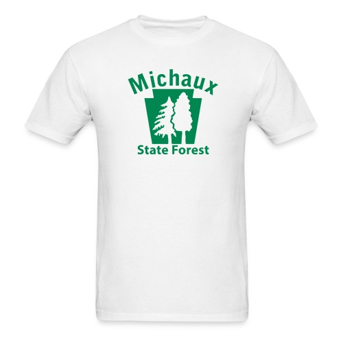 Michaux State Forest Keystone w/Trees - Men's T-Shirt