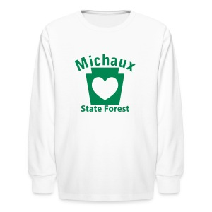 Michaux State Forest Keystone Heart - Kids' Long Sleeve T-Shirt