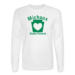 Michaux State Forest Keystone Heart - Men's Long Sleeve T-Shirt