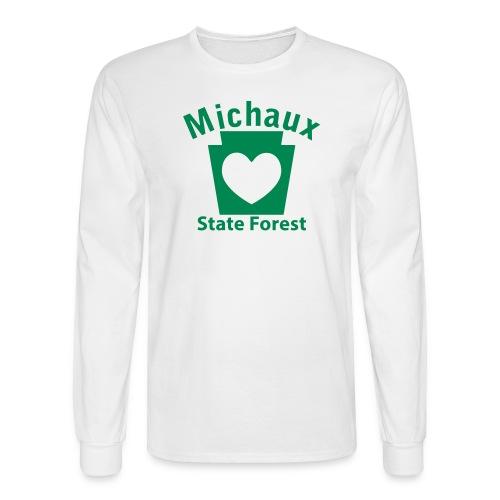 Michaux State Forest Keystone Heart - Men's Long Sleeve T-Shirt