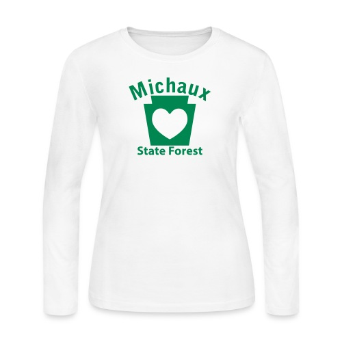 Michaux State Forest Keystone Heart - Women's Long Sleeve Jersey T-Shirt