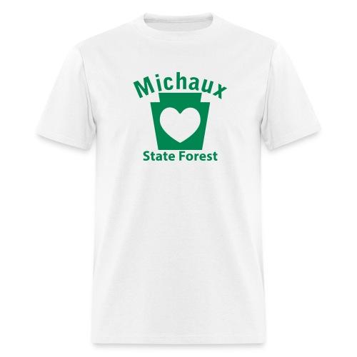 Michaux State Forest Keystone Heart - Men's T-Shirt