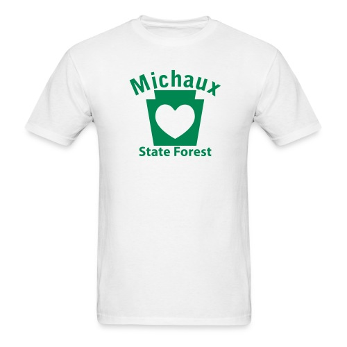 Michaux State Forest Keystone Heart - Men's T-Shirt