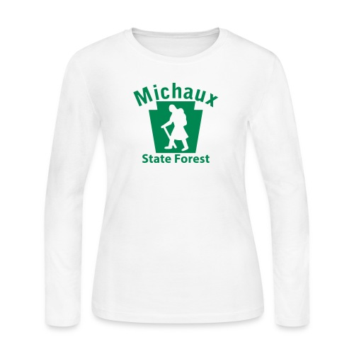 Michaux State Forest Keystone Hiker (female) - Women's Long Sleeve Jersey T-Shirt