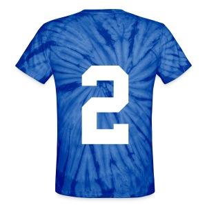 2 on back tye dye - Unisex Tie Dye T-Shirt