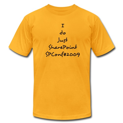 SharePoint Yellow - Men's Fine Jersey T-Shirt