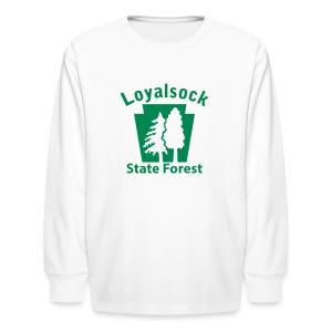 Loyalsock State Forest Keystone w/Trees - Kids' Long Sleeve T-Shirt