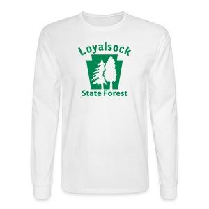 Loyalsock State Forest Keystone w/Trees - Men's Long Sleeve T-Shirt